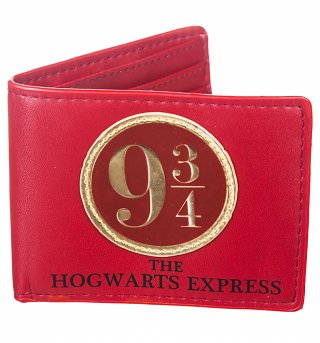 Red Harry Potter Platform 9 And 3/4 Wallet