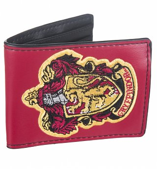 Red PU Harry Potter Gryffindor Crest Wallet