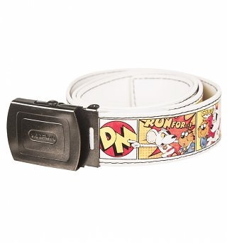 Retro Danger Mouse Comic Strip PU Belt