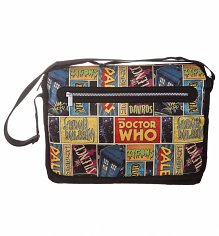 Retro Doctor Who Comic Messenger Bag