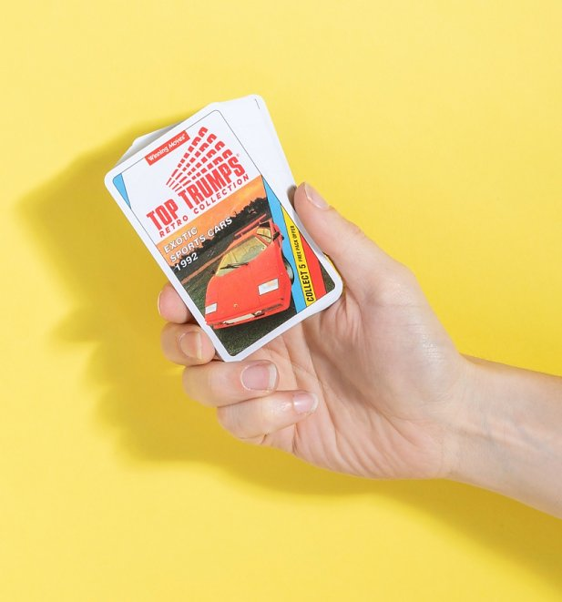 An image of Retro Sports Cars Top Trumps Card Game