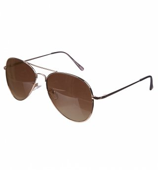 Rose Gold Mirror Lens Aviator Sunglasses from Jeepers Peepers