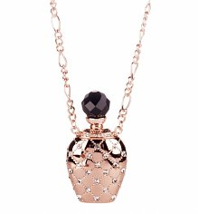 Rose Gold Plated Alice In Wonderland Drink Me Bottle Necklace from Disney Couture