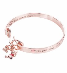 Rose Gold Plated Braver Than You Believe Winnie The Pooh Bangle from Disney Couture