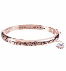 Rose Gold Plated Pinocchio When You Wish Upon A Star Bangle from Disney Couture