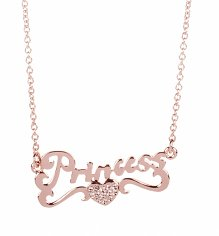 Rose Gold Plated Princess Charm Necklace from Disney Couture