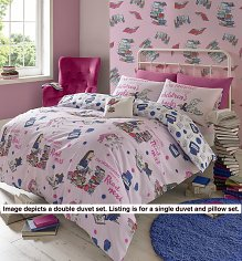 Single Roald Dahl Matilda Bookworm Duvet Cover Set from Ashley Wilde