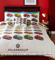 Single Volkswagen Beetles Duvet Cover Set from Ashley Wilde