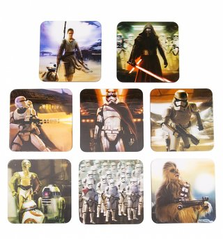 Star Wars Episode VII Set Of 8 3D Coasters
