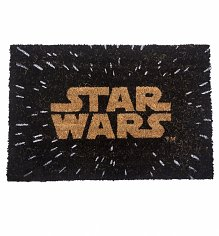 Star Wars Logo And Stars Door Mat