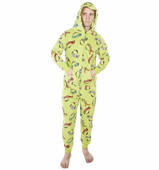 Unisex Teenage Mutant Ninja Turtles All Over Print Hooded Onesie