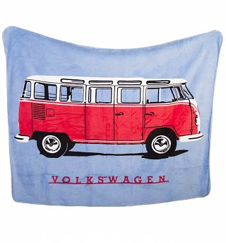 Volkswagen Camper Van Fleece Throw from Ashley Wilde