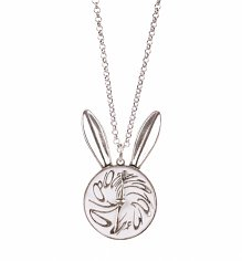 White Gold Plated Alice In Wonderland Rabbit Ears Locket from Disney Couture