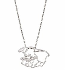 White Gold Plated Dumbo Outline Necklace from Disney Couture