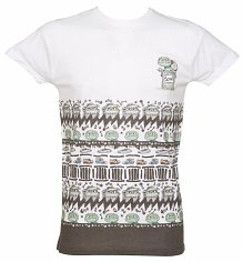 White Oscar the Grouch Trash Talk T-Shirt from Retro Fred's