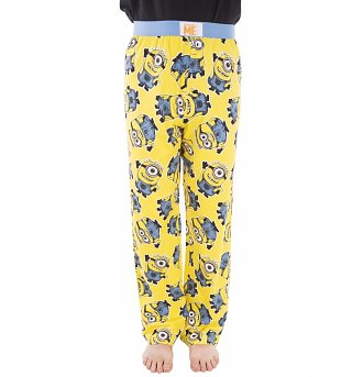 Yellow Minions All Over Print Lounge Pants