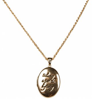 Gold Plated Believing Is Just The Beginning Tinker Bell Locket from Disney Couture