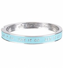 14kt White Gold Plated Frozen Let It Go Bangle from Disney Couture
