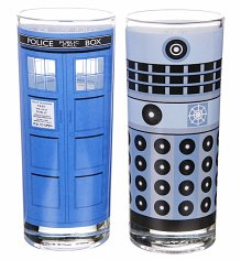 Boxed TARDIS And Dalek Doctor Who Set Of 2 Glasses