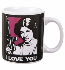 Boxed Princess Leia I Love You Star Wars Mug