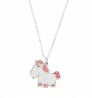 Despicable Me Enamel Fluffy Unicorn Necklace