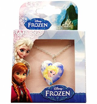 Kids Disney Frozen Anna And Elsa Double Sided Locket Necklace