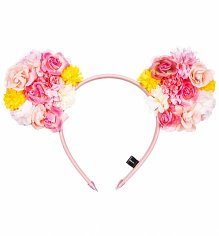 Floral Pom Pom Disney Minnie Mouse Ears Headband