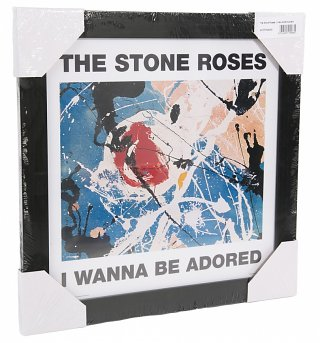 "Framed Stone Roses Wanna Be Adored 12"" Album Cover Print"