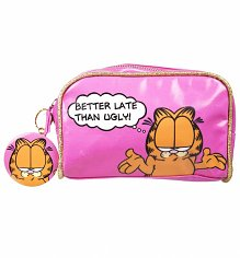 Garfield Better Late Than Ugly Wash Bag