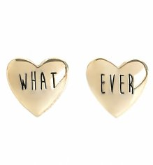Gold Whatever Stud Heart Earrings from Me & Zena