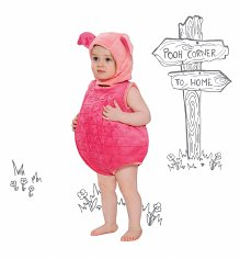 Kids Piglet Winnie The Pooh Bodysuit Costume With Hood