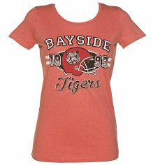 Women's Bayside Tigers American Football Heather Scoop Neck T-Shirt