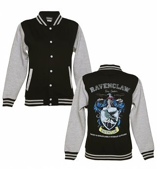 Ladies Black Harry Potter Ravenclaw Team Quidditch Varsity Jacket