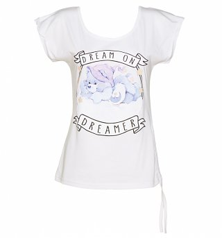 Women's Care Bears Dream On Dreamer Ruched Side T-Shirt