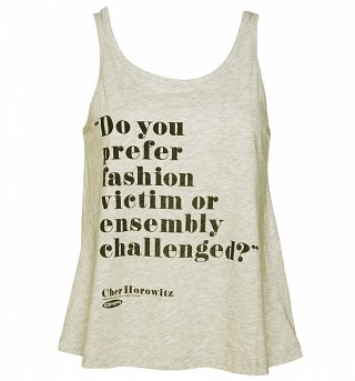Ladies Clueless Fashion Victim Swing Vest