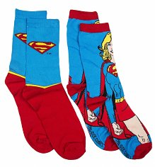 Ladies DC Comics Supergirl 2pk Socks