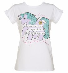 Ladies Glitter My Little Pony Leave a Little Sparkle Rolled Sleeve Boyfriend T-Shirt