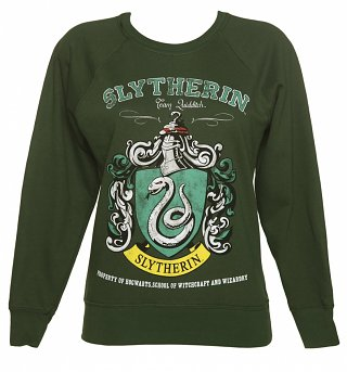 Ladies Harry Potter Slytherin Team Quidditch Sweater