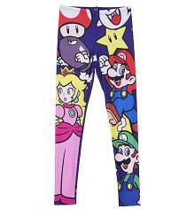 Ladies Nintendo All Over Print Super Mario Brothers Characters Leggings