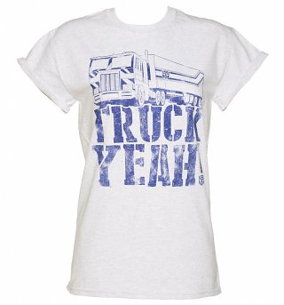 Women's Transformers Truck Yeah Rolled Sleeve Boyfriend T-Shirt