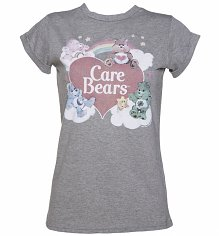 Ladies Vintage Care Bears Rolled Sleeve Boyfriend T-Shirt