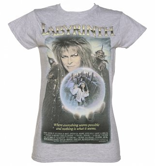 Ladies Vintage Labyrinth Movie Poster T-Shirt