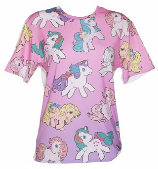 Ladies Vintage My Little Pony Ombre T-Shirt