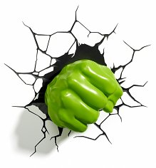 Marvel Comics 3D Hulk Fist Wall Light