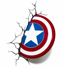 Marvel Comics 3D Captain America Shield Wall Light