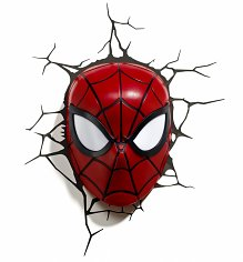 Marvel Comics 3D Spider-Man Mask Wall Light