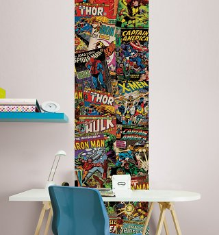 Marvel Comics Unique Wall Wallpaper Panel 50cm x 2.5m from Graham & Brown