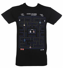 Men's Black Doctor Who Pac-Man T-Shirt