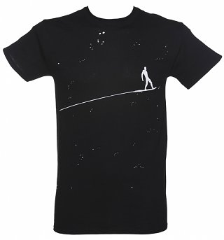 Men's Black Marvel Silver Surfer T-Shirt