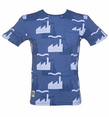 Men's Blue Factory Records All Over Print from Worn By